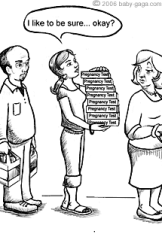 pregnancy test cartoon